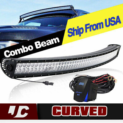 Offroad 700W 52inch LED Light Bar Curved Flood Spot Combo Truck Roof Driving