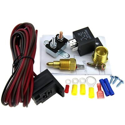 Fan Thermostat Switch Sensor Kits 5 pins Relay 200-185 Degree Engine Cooling