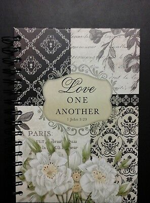 "New Spiral Hardcover Journal/diary ""love One Another"""