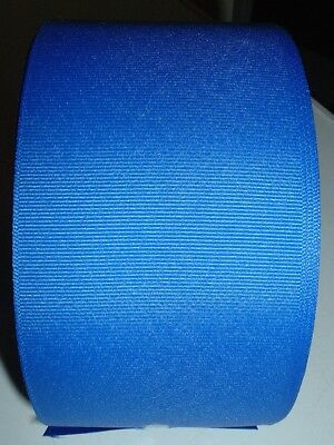 "Offray 50 Yd Roll Electric Blue 3"" Grosgrain Cheer Bow Ribbon Free Shipping"
