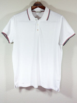 f6aafbfc MONCLER POLO SHIRT White Red Mens Authentic Used T1528 - $336.00 ...