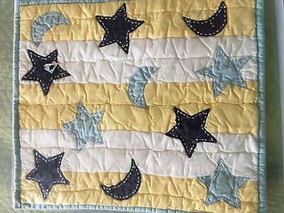 Pottery Barn Kids Moon & Star Doll Throw Quilt 100% Cotton - New In Package