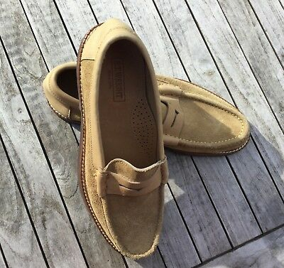 888e4ef6e25 NEW E.T. Wright Mens Suede Tan Leather Slip On Penny Loafers Shoes Size 10  AA