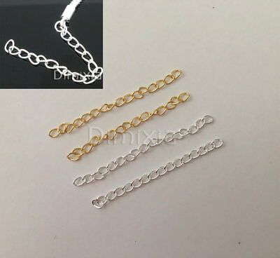 Gold Silver Plated Chain Extender Necklace Bracelet Chains Extension Clasp