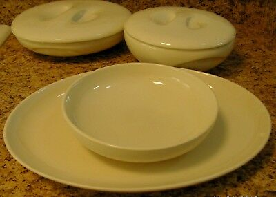 Russel Wright Iroquois Off White Casual China Set of 6 Serving Pieces