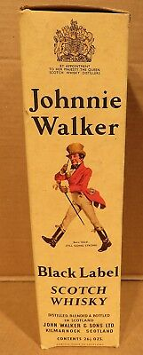 Vintage Johnnie Walker Black Label Scotch Whisky Carton Box