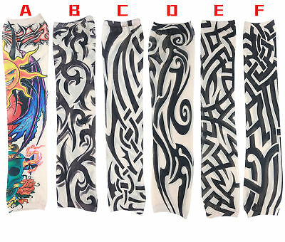 Skin Tattoo Sleeves Cloth Arm Sleeve Cuff Socks Carnival Costumes Nylon Stretchy