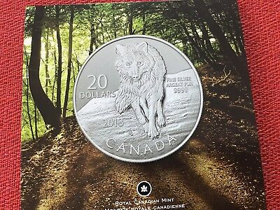 2011 $20 Wolf Canada Pure Silver Commemorative Coin