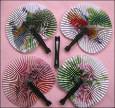 Bulk Lot x 10 Ladies Girls Oriental Folding Summer Fans Pocket Size New