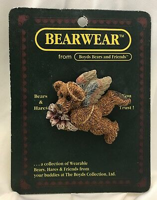 """COLLECTIBLE BOYDS BEARS """"Angelica With Lilly"""" BEARWEAR Pin ~ Style #2663 Retired"""