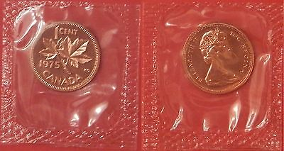 Proof Like 1975 Canada 1 Cent Sealed in Cello