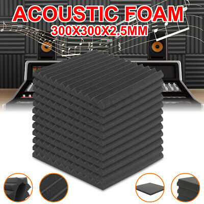Soft Studio Sound Proofing Insulation Wedge Acoustic Foam Tiles 6/12/24 Panels