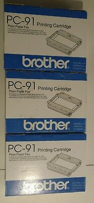 Brother PC91 Printing Cartridges Lot Of 3