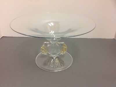 ANTIQUE  Venetian glass compote grapes unique centerpiece