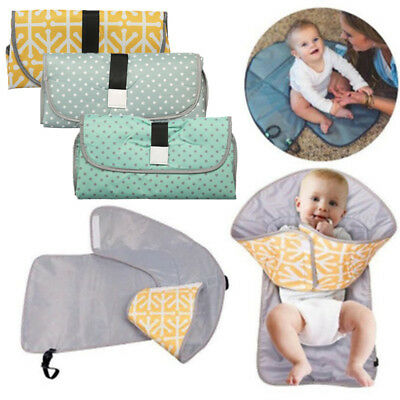 Baby Portable 3-in-1 Diaper Changing Pad Travel Station Clean Mat Folding Clutch