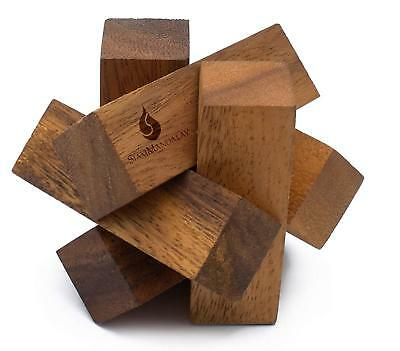 Mini Lumberjack: Handmade & Challenging 3D Brain Teaser Wooden Puzzle for Adults