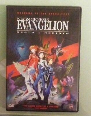 NEON GENESIS EVANGELION DEATH & REBIRTH   DVD includes insert