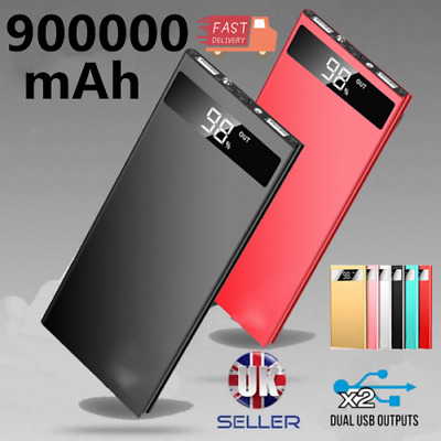 UK 500000mAh Portable Power Bank 2USB External Battery Charger Father's Day Gift
