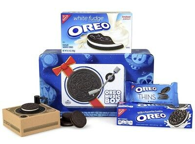 Oreo Music Box Record Player Gift Tin Limited Edition Play Your Own Music