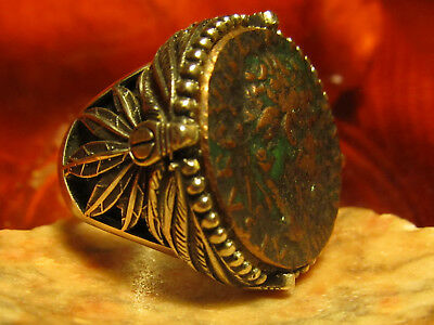 Authentic Ancient Roman 12 Caesars Roman Emperor Domitian Men's Ring!