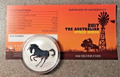 2017 Stock Horse 1oz Silver Coin