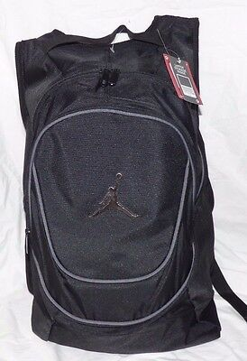 271442c9f7 New Nike Air Jordan Jumpman Gym Backpack Laptop Bag Black gray Msrp  50 Nwt