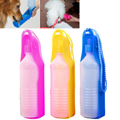 Collapsible Pet Water Dispenser Lanyard Portable Cat Dog Drinking Bottle 500ml