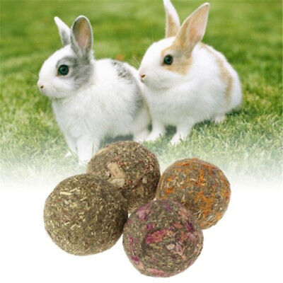 10 pcs Pet Teeth Grinding Ball Guniea Pig Rabbit Chinchilla Natural Grass Toys