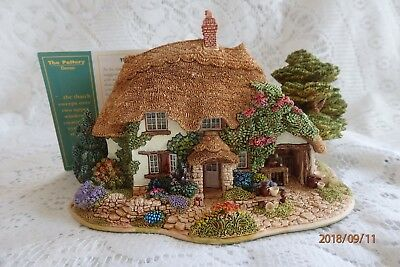 """Lilliput Lane Cottage""""The Pottery"""" Special Club Ltd Edition 1998/99 Deed+Box"""
