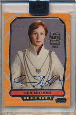 2018 Topps Star Wars Archives Genevieve O'Reilly as Mon Mothma Auto 09/15
