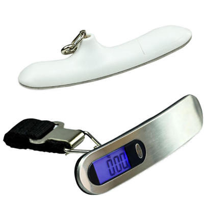 Portable Travel 110lb/50kg LCD Digital Hanger Luggage Scales Electronic Weight