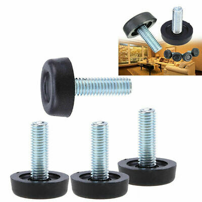 AU 1-80X Furniture Table Cabinet Adjustable Screw Glides Legs Levelling Feet M8
