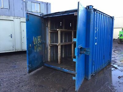 10ft Storage Container Site Store Lock Up Tool Safe Anti Vandal Steel Portable