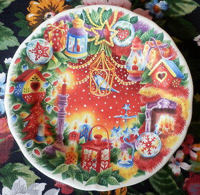 Assiette Dessert Gien Decor Noel Joyeuses Fetes  Happy Christmas 2012 D 22.3 Cm