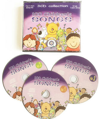 100 Children's Songs 3 Cd  Kids Singalong Favourite Nursery Rhymes New & Wrapped