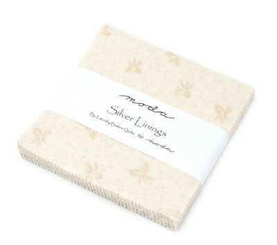 """Silver Lining Prints 5"""" Charm Squares - Moda - Quilt - Patchwork - Fabric"""