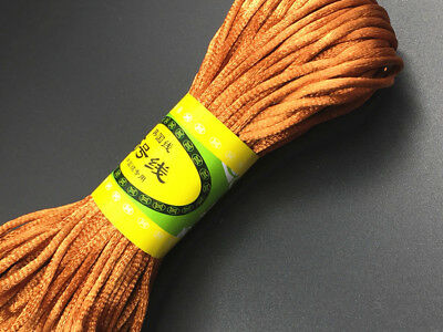 20m Chinese Knot Satin Nylon Woven Braided Cord Beading Rattail  Wire Cords