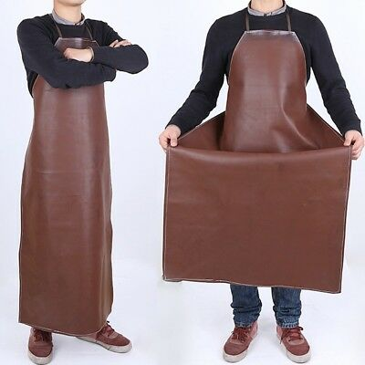 Waterproof kitchen Apron Oil-resistant Leather Welding Protective Clothing Bib