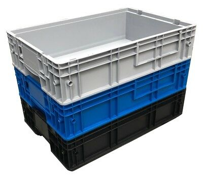 25 Ltr Heavy Duty Plastic Stacking Industrial Euro Storage Tray Containers Boxes