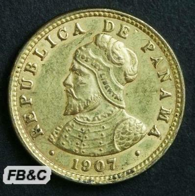 Mint Lustre Gvf Products Are Sold Without Limitations Coins 1907 Panama Medio Centesimo Coin Km#6 Central America