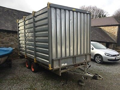 twin axle braked Box Trailer , Ifor williams . Insulated And Lined. Container.