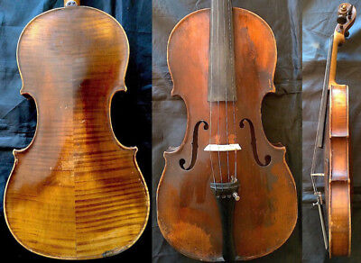 FINE ANTIQUE 4/4 VIOLIN Label O.Bischofberger ZURICH c1850 Value $3k Geige Скрип