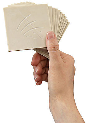Pack of 10 soft cut sheets 75 x 75mm - Lino, block printing, easy carve, SoftCut