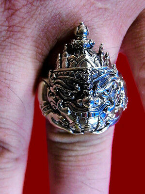 RING Phra Rahu LP Thankloy Thai Buddha Amulet Power lucky Wealth Rich Protection