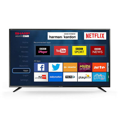 """Sharp 40"""" Inch LED Smart TV Television Full HD 1080p with Freeview HD + Saorview"""