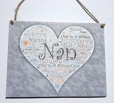 30cm x 10cm MDF Wooden MOTHERS DAY PLAQUE with HEARTS GRANNY/'S LIKE YOU