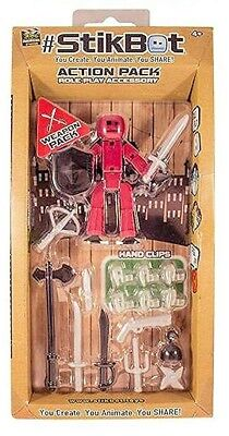 STIKBOT role play accessory ACTION PACK zing WEAPON PACK personaggio ARMI età 4+