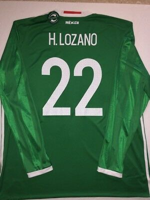 ADIDAS CHUCKY LOZANO Mexico 2018 World Cup Away Authentic Player ... c55211dbc