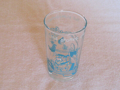 The Flintstones   Fred In His Sports Car   Jelly Glass   Hanna-Barbera 1962