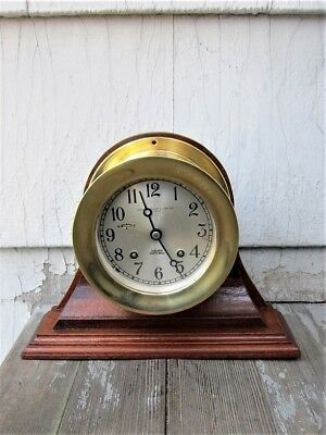 """HAND-MADE SOLID MAHOGANY SHIP'S CLOCK/BAROMETER STAND for a 4 1/2"""" CLOCK"""